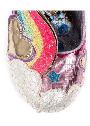 Irregular Choice Summer of Love Rainbow Pumps Roze