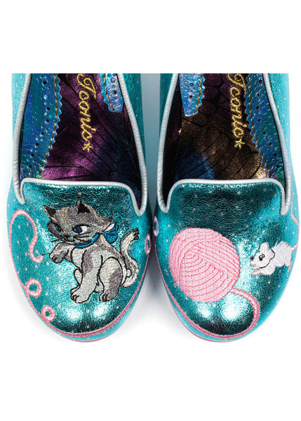 Irregular Choice Fuzzy Peg Pumps Blauw