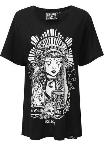 Killstar In Goth We Trust Relaxed T-Shirt Zwart