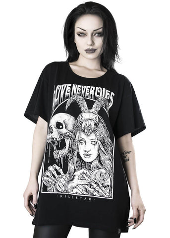 Killstar Love Never Dies Relaxed T-Shirt Zwar