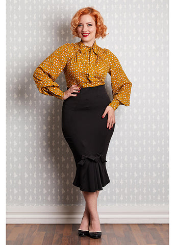 Miss Candyfloss Fairytale 50's Pencil Rok Zwart