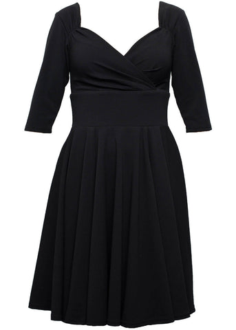 Steady Clothing Diva 50's Swing Jurk Zwart