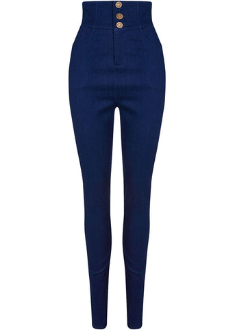 Collectif Nomi High Waisted Jeans Navy
