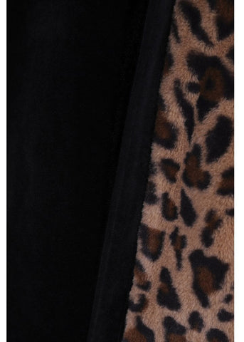 Collectif Sheena Leopard 50's Cape Zwart