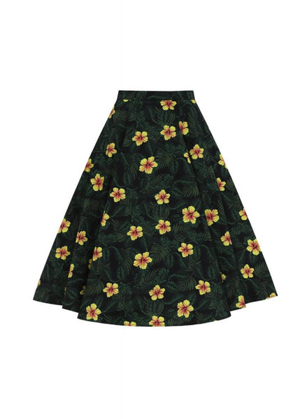 Collectif Matilde Tropical Hibiscus 50's Swing Rok Multi