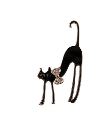 Collectif Scared Cat 50's Broche Zwart