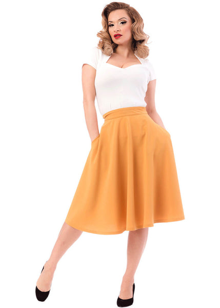 Rock Steady High Waist Thrills 50's Swing Rok Mosterd