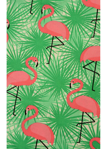 Run and Fly Tropical Flamingo 50's Jurk Mint