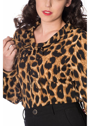 Banned Leopard 50's Blouse Luipaard