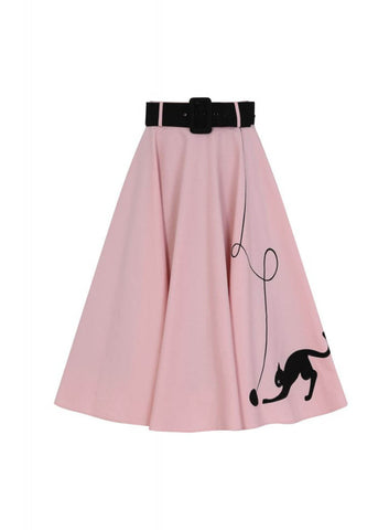 Collectif Kitty Cat 50's Swing Rok Roze