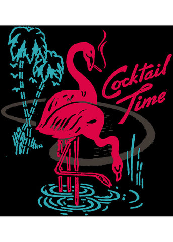 Rock Steady Cocktail Time T-shirt Zwart