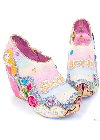 Irregular Choice Sleeping Beauty Dreamer Vs. Evil Sleehak Booties Rainbow Multi