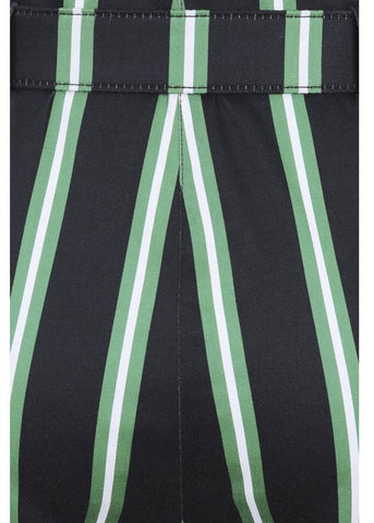 Collectif Thea Witch Stripes 60's Broek Zwart