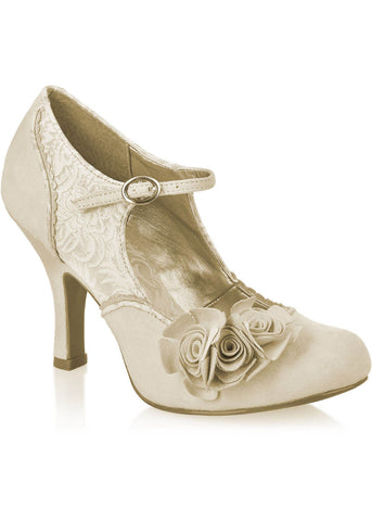 Ruby Shoo Emily Classic Pumps Cream Gold
