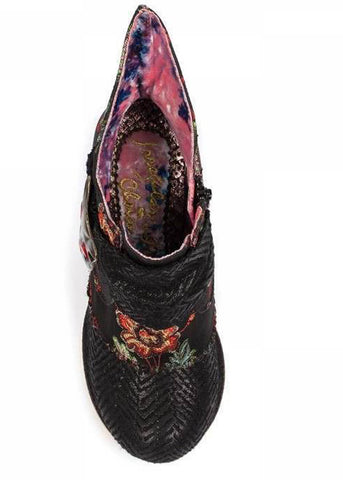 Irregular Choice Miaow Satin Laarsjes Zwart