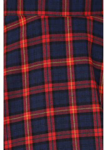 Banned Tartan Dreams 40's Swing Rok Rood