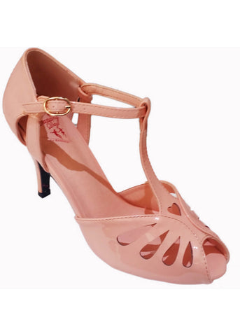 Banned Secret Love 50's Pumps Blush Roze