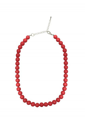 Succubus Parel 50's Ketting Donker Rood
