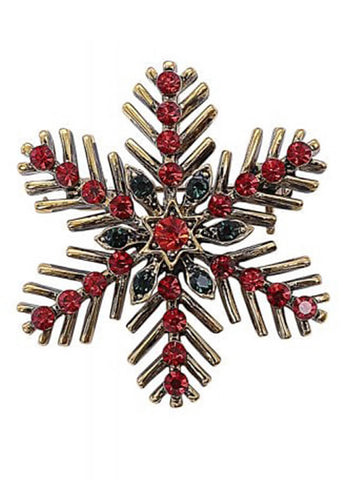 Collectif Chrissy Snow Flake Broche Rood