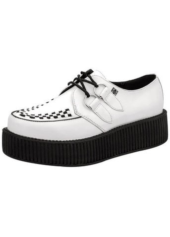 T.U.K Heren Viva Hi Sole Creeper Leder Wit