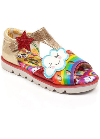 Irregular Choice Kids Diamond Rain Schoenen Goud