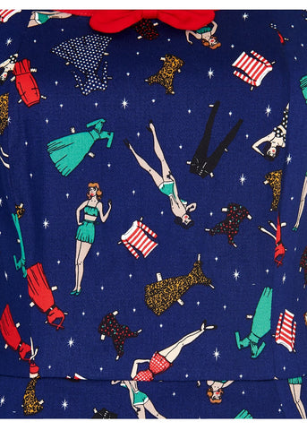 Collectif Willow Paperdoll 50's Swing Jurk