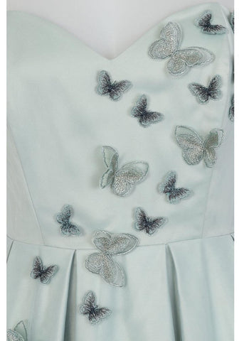 Collectif Tiana Butterfly 50's Swing Jurk Licht Groen