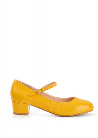 Lulu Hun Mary Jane 60's Pumps Geel