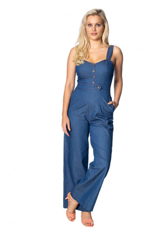 Banned Seaside 60's Jumpsuit Blauw