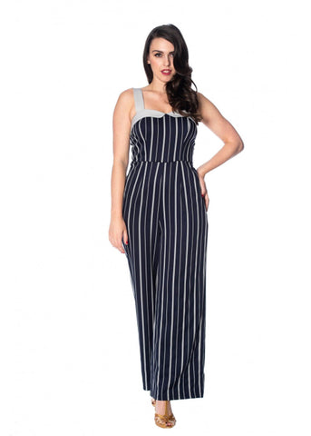 Banned Summer Breeze Jumpsuit Navy