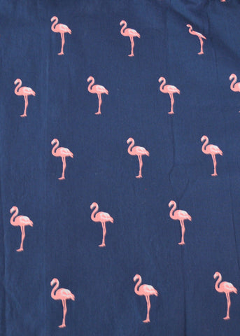 Run and Fly Heren Flamingo Pose Shirt Navy