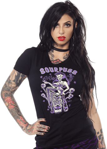 Sourpuss Jungle Princess T-Shirt Zwart