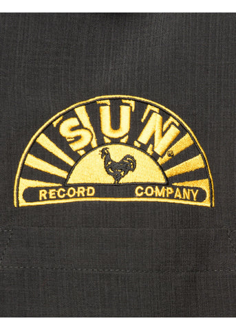 Steady Clothing Heren Sun Records Music Notes Shirt Zwart
