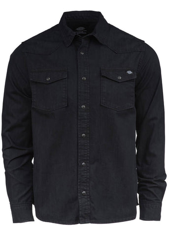 Dickies Heren Willard Denim Shirt Zwart