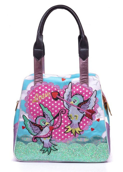 Irregular Choice Cupid Bird Tas Blauw Lila