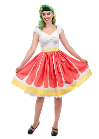 Collectif Jasmine Pink Grapefruit 50's Swing Rok