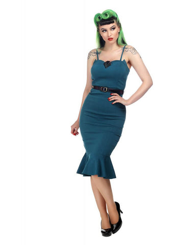 Collectif Alie Fishtail 50's Pencil Jurk Multi