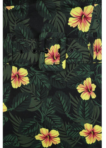 Collectif Ramona Tropical Hibiscus 50's Pencil Jurk Multi