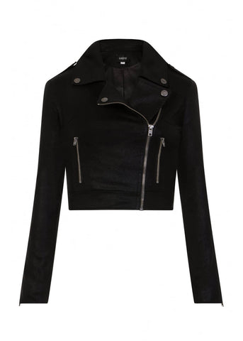 Collectif Outlaw Biker Jacket Zwart