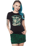 Sourpuss Frankenstein T-Shirts Zwart