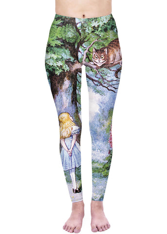 Kukubird Alice in Wonderland Leggings Multi
