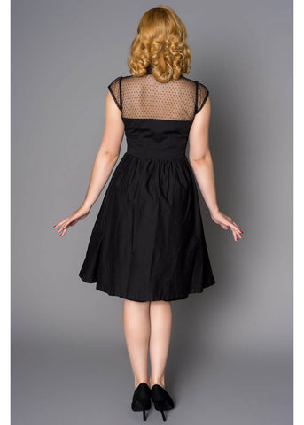 Sheen Valentina Heart 40's Swing Jurk Zwart