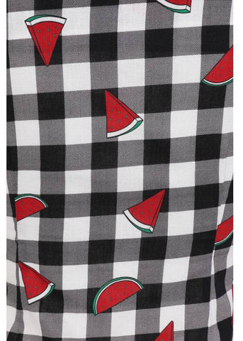 Collectif Dolores Watermelon Gingham 50's Top Multi