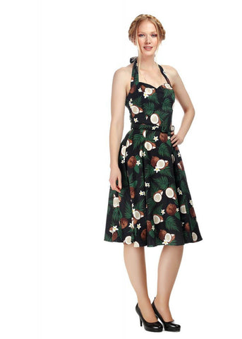 Collectif Beth Coconut 50's Swing Jurk Zwart