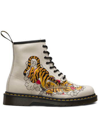 Dr. Martens 1460 Tattoo Grez Veterlaarzen Bone