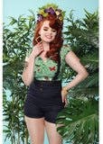 Collectif Nomi Denim 50's Tuinbroek Shorts Navy