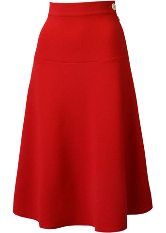 Pretty Retro Lovely 40's Swing Rok Red