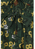 Collectif Giselle Pineapple Slice 60's Swing Jurk Groen