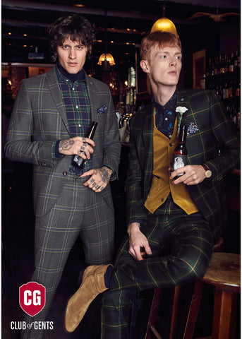 Club of Gents Caden Tartan Colbert Groen