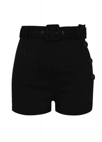 Collectif Gertrude 50's Shorts Zwart